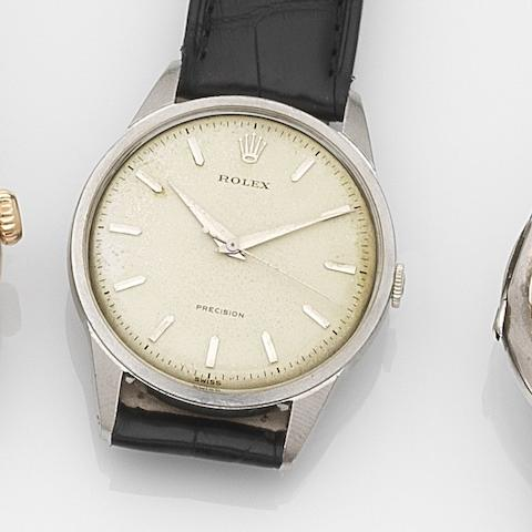 Rolex. A stainless steel manual wind wristwatch  Precision, Ref:8896, Movement No.97344, Circa 1940