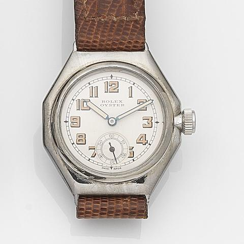 Rolex. A stainless steel manual wind wristwatch Oyster, Ref:2136, Case No.71960, Circa 1939