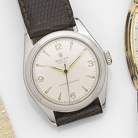 Rolex. A stainless steel manual wind wristwatch Oyster, Ref:6082, Circa 1960