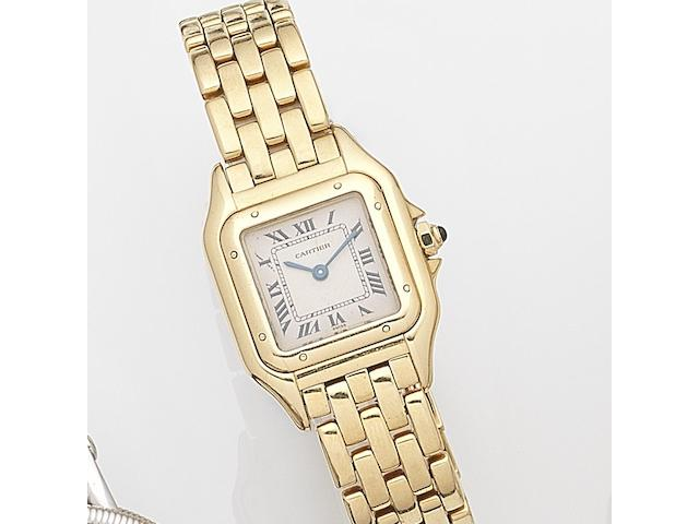 Cartier. A lady's 18ct gold quartz bracelet watch Panthère, Ref:1070 2, Case No.C15002, Circa 1992