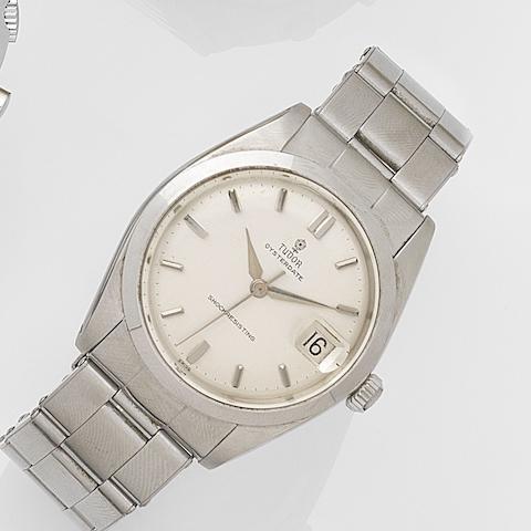 Tudor. A stainless steel manual wind calendar bracelet watch Oysterdate, Ref:7962, Serial No.447248, Circa 1964