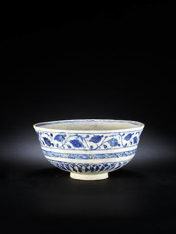 A Timurid underglaze-painted pottery Bowl  Persia, late 15th/ early 16th Century