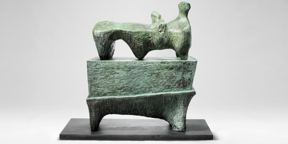 Henry Moore 'Figure on a Pedestal' raises the stakes at Bonhams Modern British and Irish Art sale in London