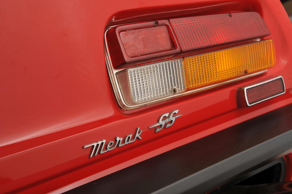 The ex-Abba,1975 Maserati Merak SS Coupé  Chassis no. AM122A 1344