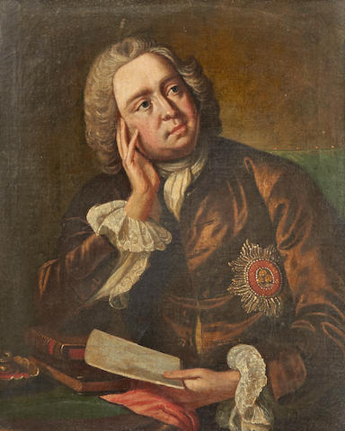 English School: Portrait of a Gentleman wearing Order of the Bath