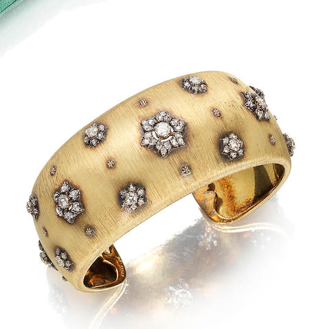 A diamond cuff, by Buccellati,