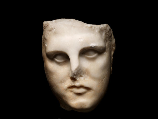 A Greek marble male head