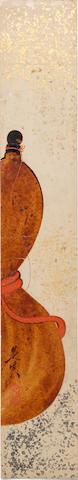 Shibata Zeshin 柴田是真 (1807-1891) TANZAKU (POEM CARD) WITH URUSHI-E (LACQUER PAINTING) OF A GOURD 瓢箪図漆絵短冊 Meiji era (1868-1912), circa 1870-1890 (2)