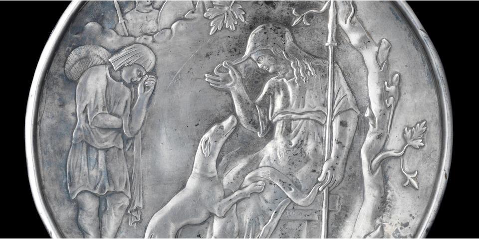 A Byzantine silver plate