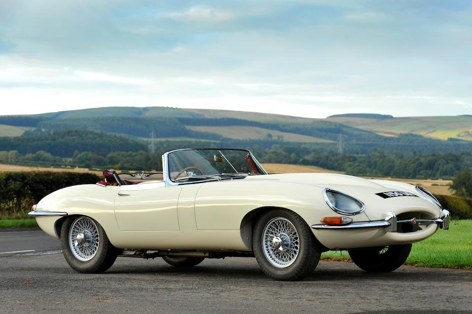 1961 Jaguar E-Type 3.8-Litre 'Flat Floor' Roadster  Chassis no. 850102 Engine no. 1655-9