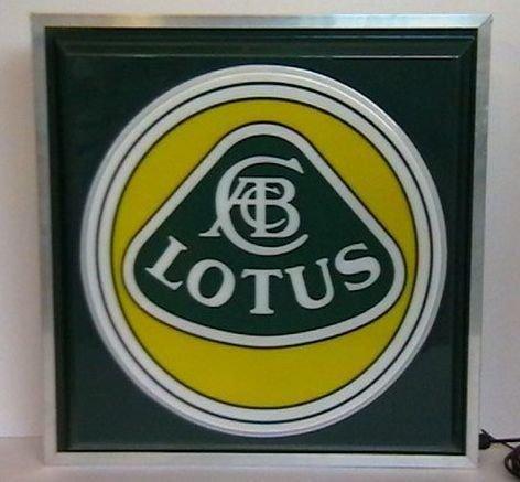 A 'Lotus' illuminating sign,