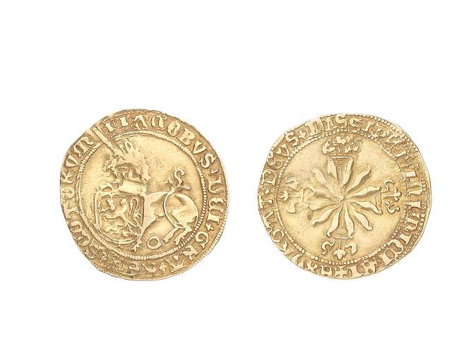 Scotland, James IV, Unicorn, Unicorn left with shield, 3.63g.
