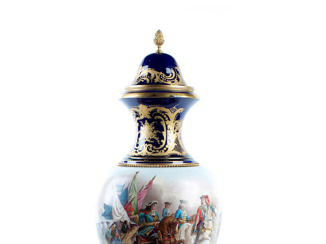 A Sevres-style vase and cover probably by H Deprez, late 19th century