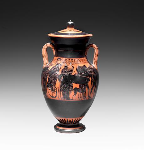 A monumental Attic black-figure lidded amphora (Type A)