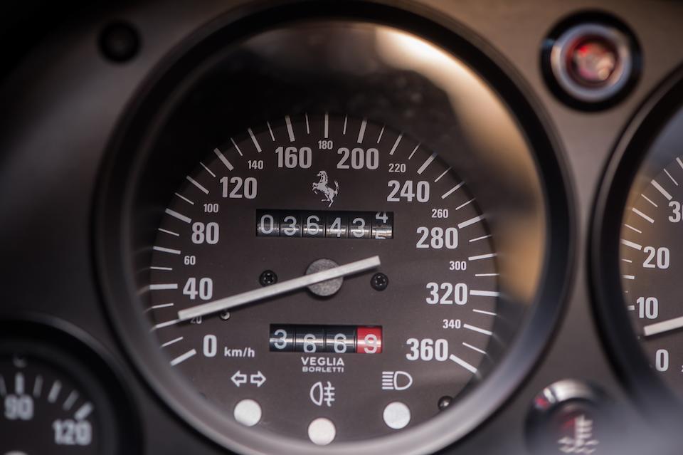 The ex-Nigel Mansell, Ferrari Classiche certified,1989 Ferrari F40 Berlinetta Chassis no. ZFFGJ34B000080022 Engine no. 16148