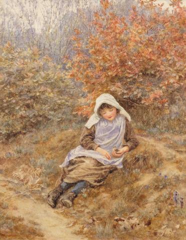 Helen Allingham, RWS (British, 1848-1926) Nestlers