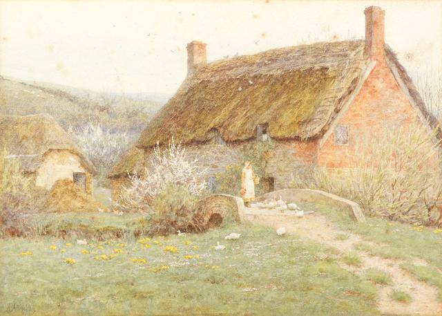Helen Allingham, RWS (British, 1848-1926) The Old Tucking Mill, Bridport