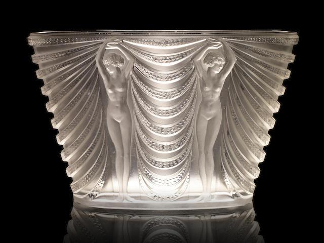 René Lalique (French, 1860-1945) 'Terpsichore' a Vase, design 1937