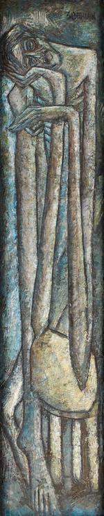 Sadequain (Pakistan, 1923-1987) Crucifixion Crucifixion