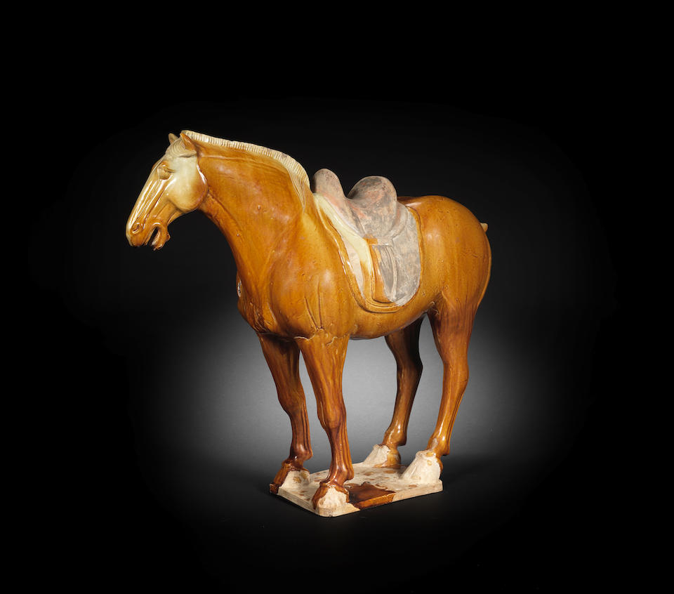 A large ochre-glazed pottery horse Tang Dynasty (2)