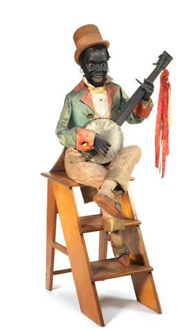 A large and impressive Roullet & Decamps black Banjo Player automaton, French circa 1890