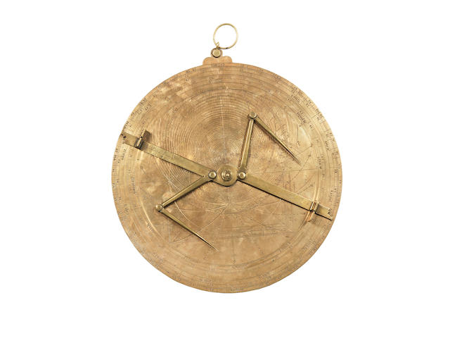 An important single sheet European universal astrolabe, not signed or dated, engraved by two hands,  the first working in the mid- to late 15th century, the second in the third quarter (or slightly later) of the 16th century,