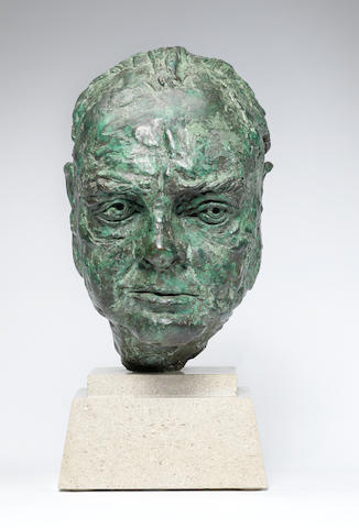 Sir Jacob Epstein (British, 1880-1959) Sir Winston Churchill 30.4 cm. (12 in.) high (excluding the base) (Conceived in 1946)