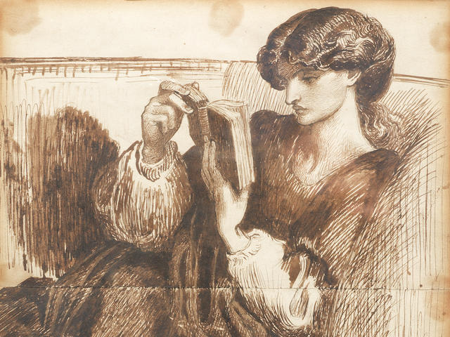 Dante Gabriel Rossetti (British, 1828-1882) Portrait of Jane Morris