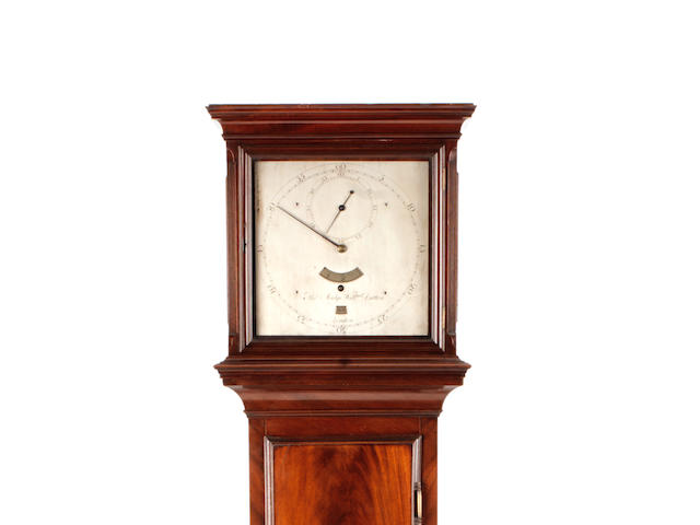 A very fine and rare late 18th century mahogany regulator of one month duration Thomas Mudge and William Dutton, London