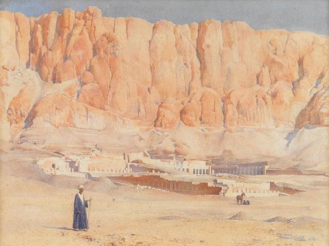 Howard Carter (British, 1873-1939) The Temple of Hatshepsut