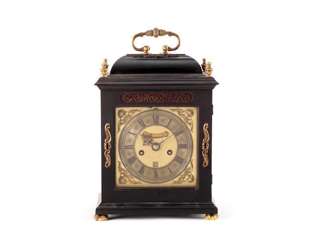 A late 17th century ebony table clock Jonathan Puller, London
