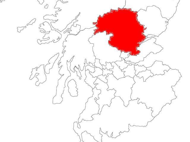 Map of Scotland: Perth