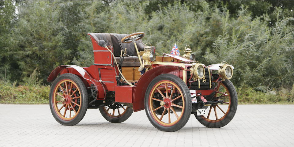 'La Perla', the ex-Ricardo Soriano, Marqués de Ivanrey and three owners from new,1902/03 Panhard et Levassor 15hp Model KB Roadster  Chassis no. 6042 Engine no. 6042