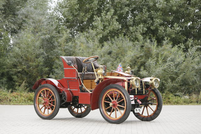 'La Perla', the ex-Ricardo Soriano, Marqués de Ivanrey and three owners from new,1902/03 Panhard et Levassor Four-Cylinder 15hp Model KB Roadster  Chassis no. 6042 Engine no. 6042