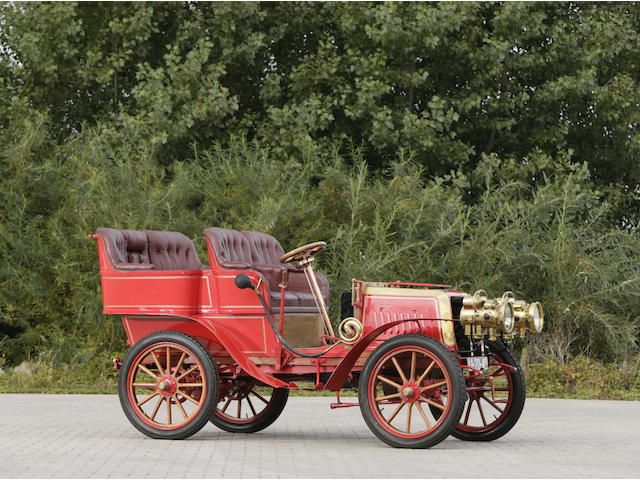 c.1903 Darracq Twin-Cylinder 12hp Rear-Entrance Tonneau  Chassis no. 3663 Engine no. 3663