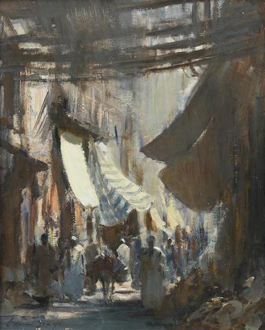 Edward Seago, RWS (British, 1910-1974) 'In the souk, Marrakech'