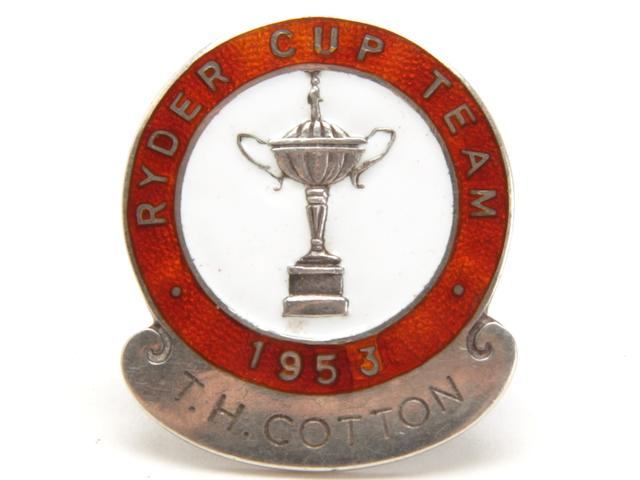Captain Henry Cotton's 1953 Ryder Cup Great Britain and Ireland Team badge