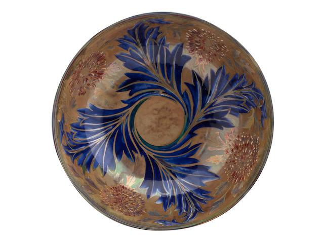 A Pilkington Lancastrian lustre bowl