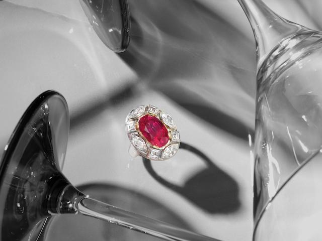 A MAGNIFICENT RUBY AND DIAMOND 'GEORGINA' RING,  by Marina B