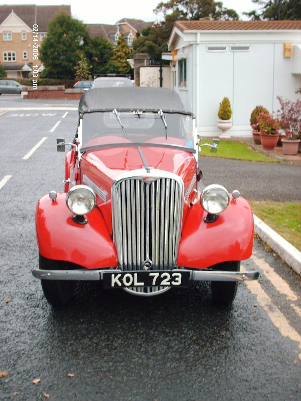 1950 Singer Nine 4AB Roadster  Chassis no. 4A5567T Engine no. A5687T