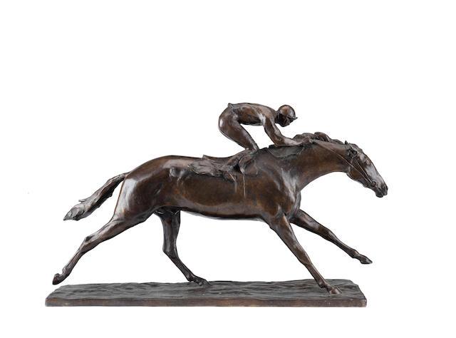 John Rattenbury Skeaping RA (British, 1901-1980): A bronze model of Lester Piggott on horseback