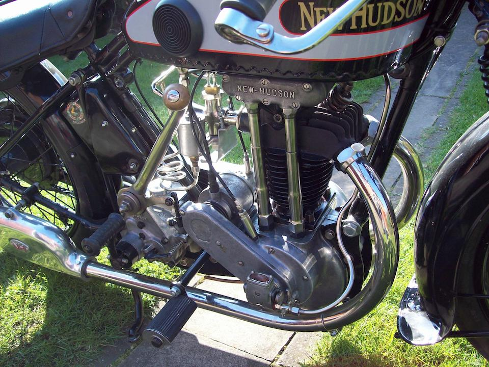 1928 New Hudson 346cc Model 85 Sports Motorcycle Combination Frame no. L14465 Engine no. LSO1493