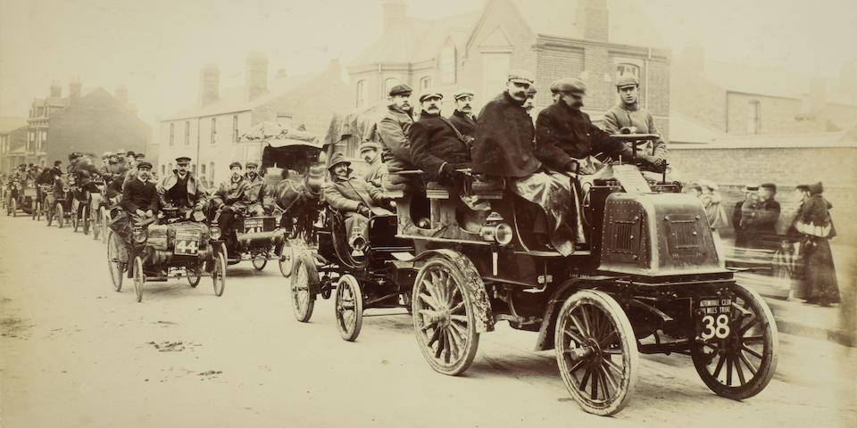 Argent Archer's photograph album 'Souvenir of Automobile Club 1,000 Mile Trial, 23 April to 12 May 1900',