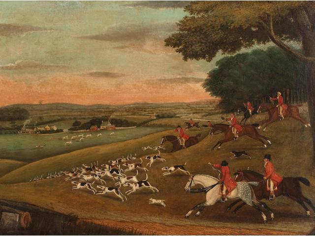J** Bryan (English, early 19th Century) Fox hunt