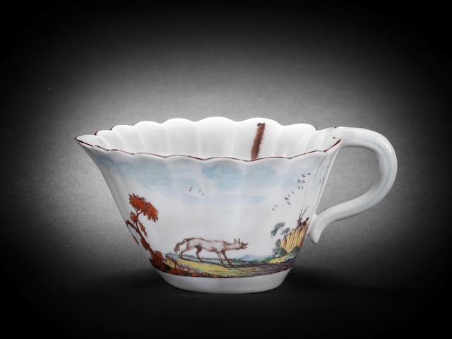 A rare Chelsea cream jug, circa 1752-54