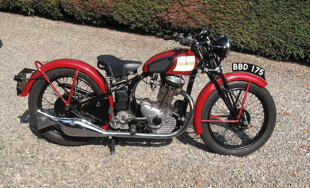 1939 P&M 'Red Panther' 348cc Model 30 Frame no. X17771 Engine no. V9498