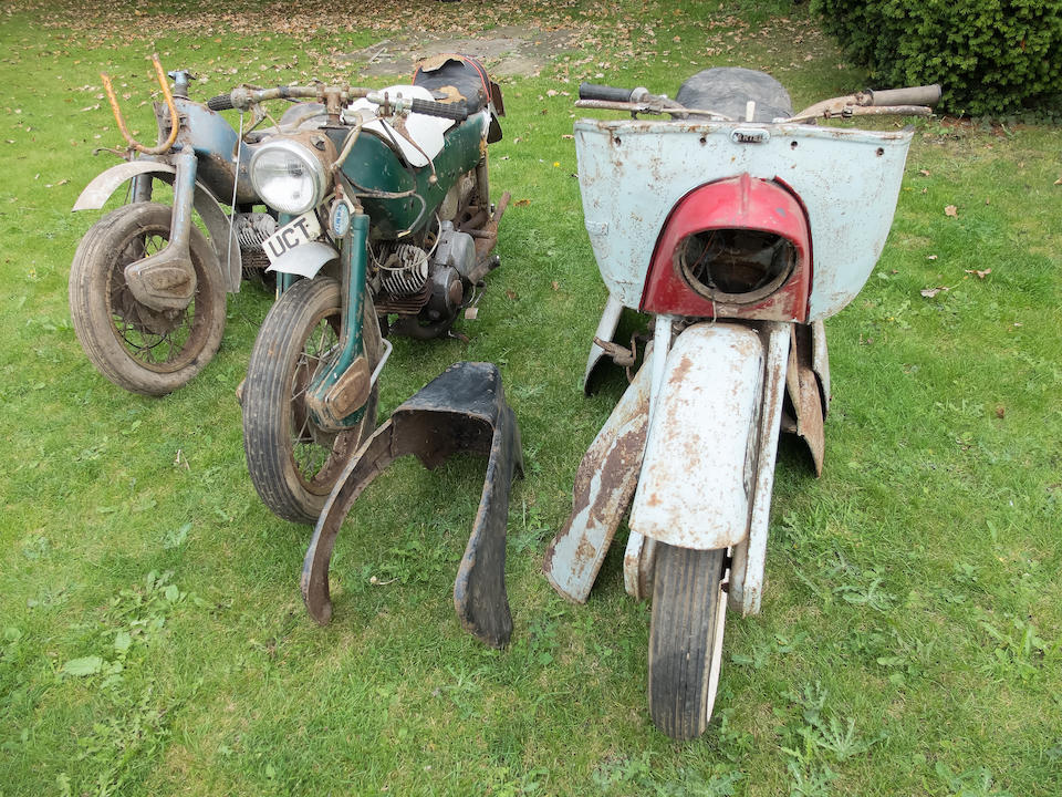 Property of a deceased's estate,c.1961 Ariel 247cc Leaders x3 Frame no. 122496/T Engine no. 122496/T