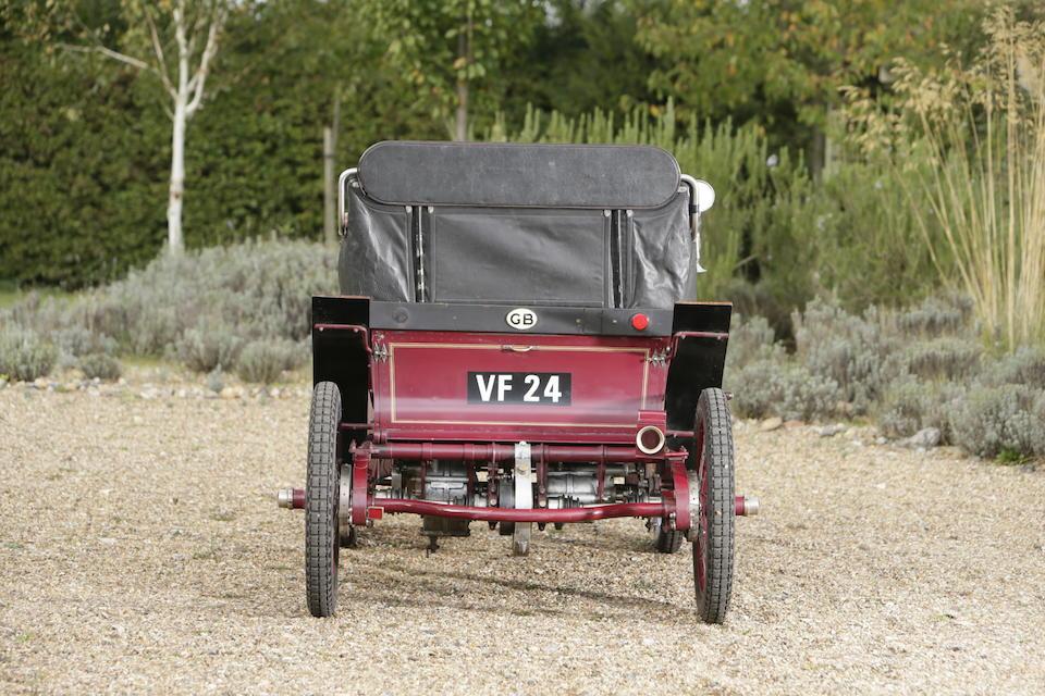 1901 De Dion Bouton 4½hp Type G 'Vis-à-Vis'  Engine no. 6060