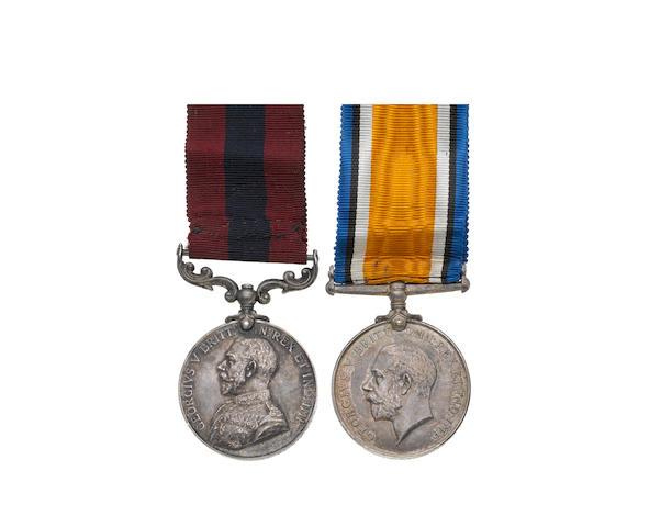 A Great War D.C.M. pair to Gunner J.Lambert, Royal Field Artillery,