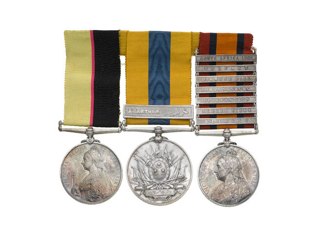 Three to Lieutenant M.Gurdon-Rebow, Grenadier Guards,